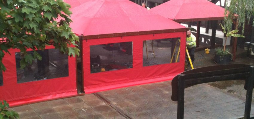 Red Gazebo Side Panels