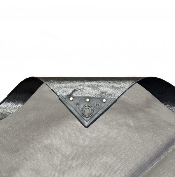 Silver Black PE Tarp